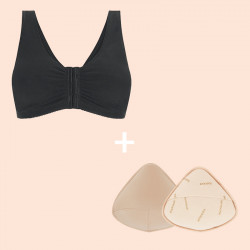Duo Offer After Breast Operation: Frances Mastectomy Bra & Priform Fabric Breast Form