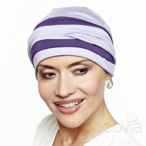 Julia Long-Tie Head Scarf - Lilac and Violet