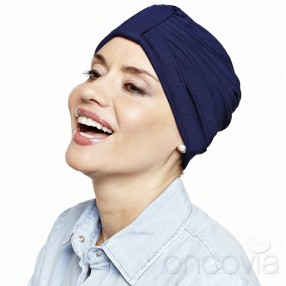 Adela Cocooning Chemo Cap - Navy Blue