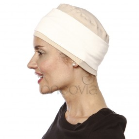 Turbante Chemio Edith - Beige/Ecru