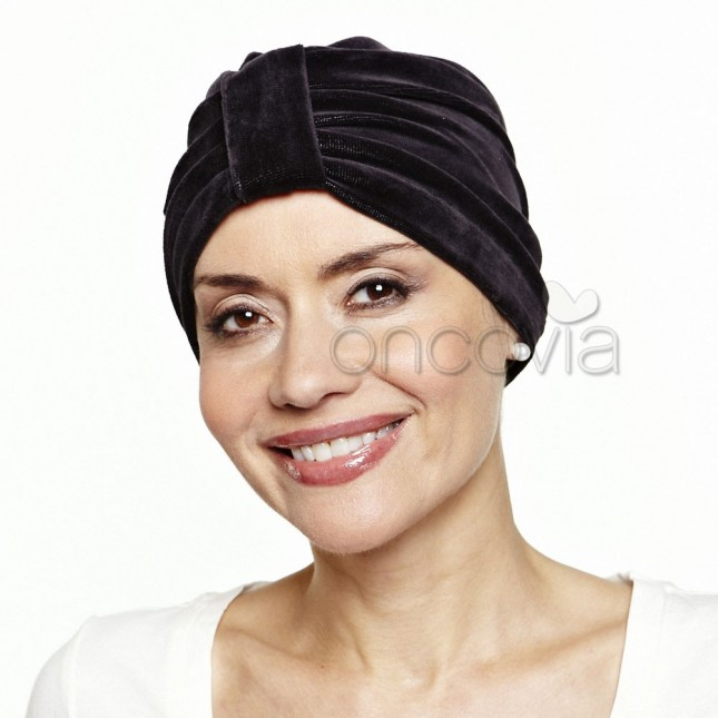 Turban en velours - Noir