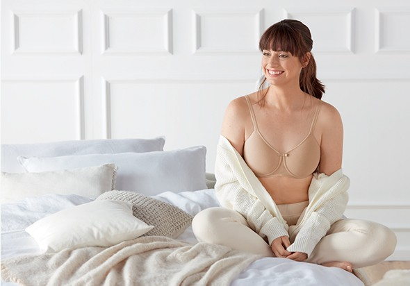 Lara Wireless Mastectomy Bra - Nude - Amoena